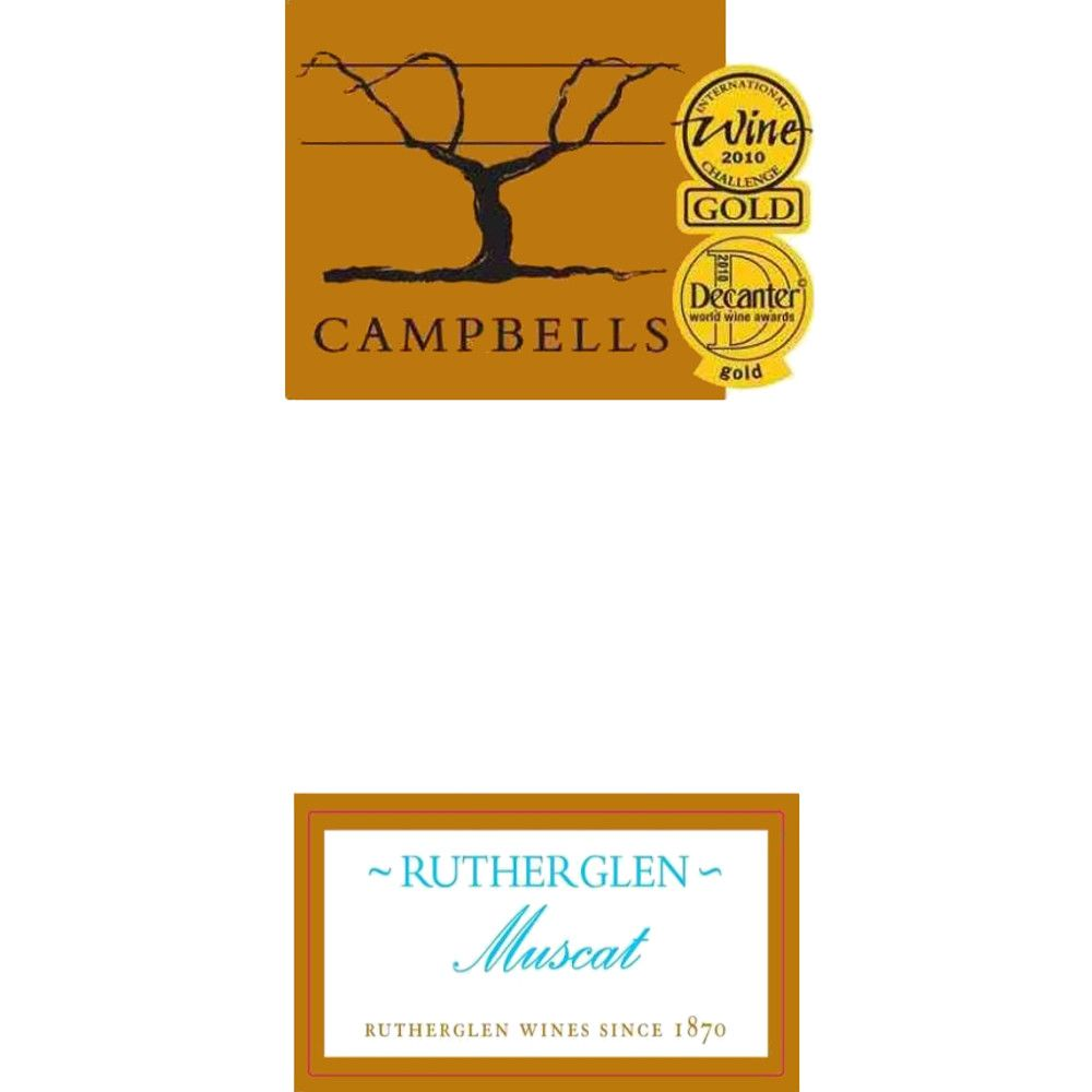 Campbells Rutherglen Muscat (375ML half-bottle) Front Label