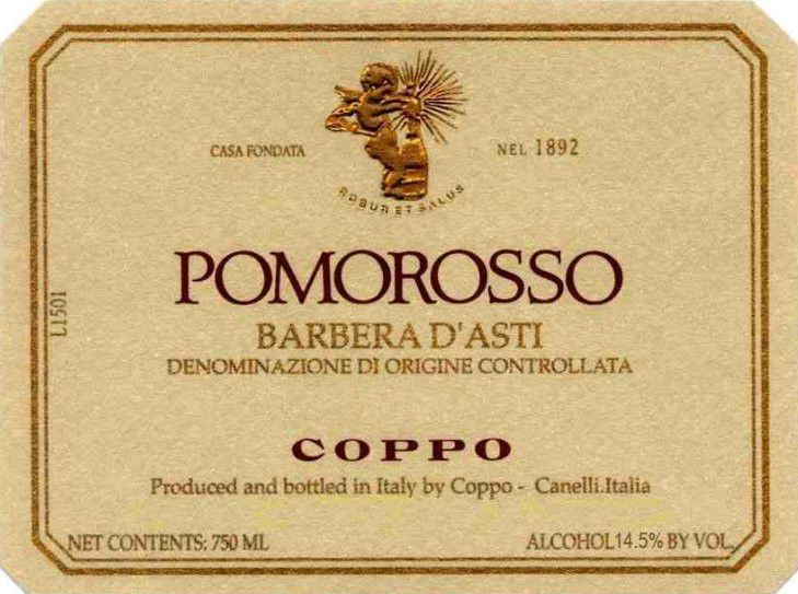 Coppo Barbera d'Asti Pomorosso 2003 Front Label
