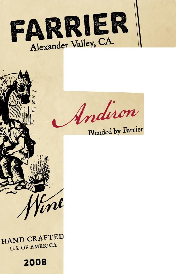 Farrier Andrion Blanc 2008 Front Label