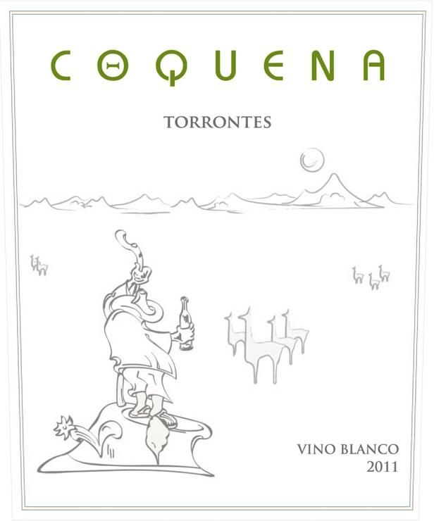Coquena Torrontes 2011 Front Label