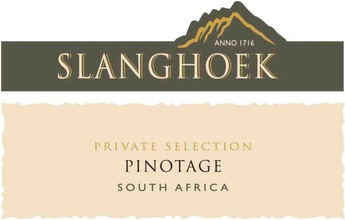 Slanghoek Wine Cellar Private Selection Pinotage 2010 Front Label