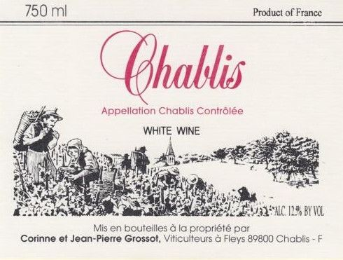 Grossot Chablis 2013 Front Label
