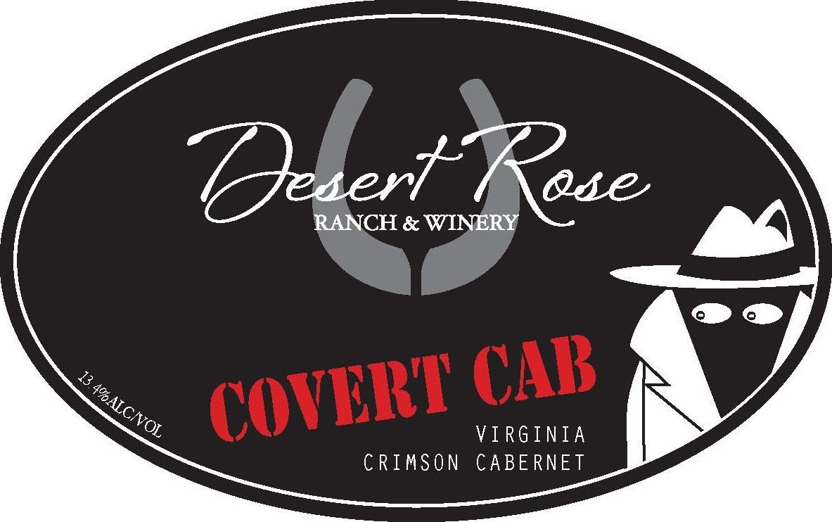 Desert Rose Ranch & Winery Covert Cabernet 2014 Front Label