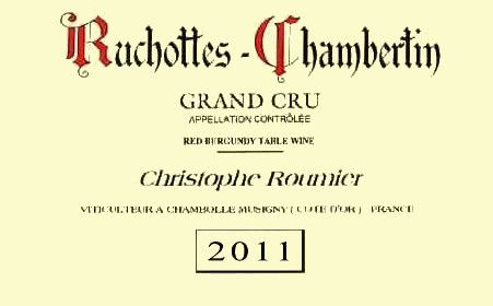 Domaine Georges & Christophe Roumier  Ruchottes-Chambertin Grand Cru 2011 Front Label