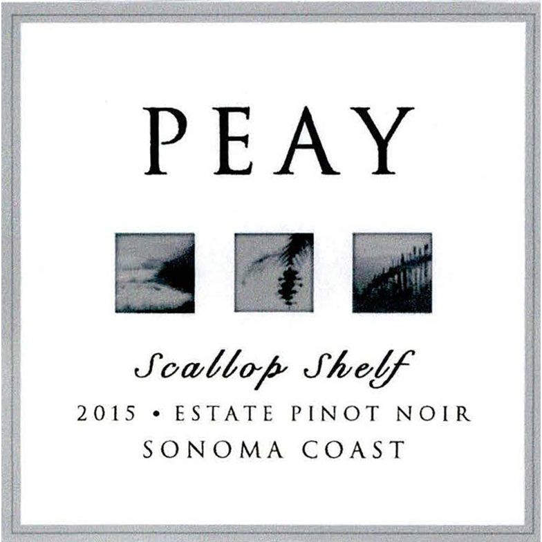 Peay Vineyards Scallop Shelf Estate Pinot Noir 2015 Front Label