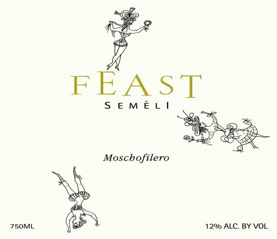 Semeli Feast Moschofilero 2015 Front Label