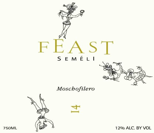Semeli Feast Moschofilero 2014 Front Label