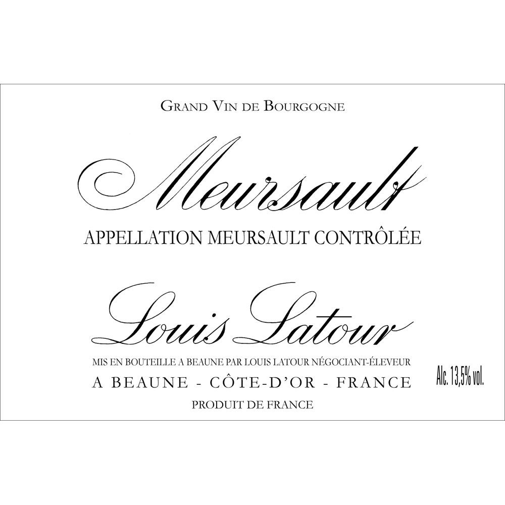 Louis Latour Meursault Blanc (375ML half-bottle) 2016 Front Label