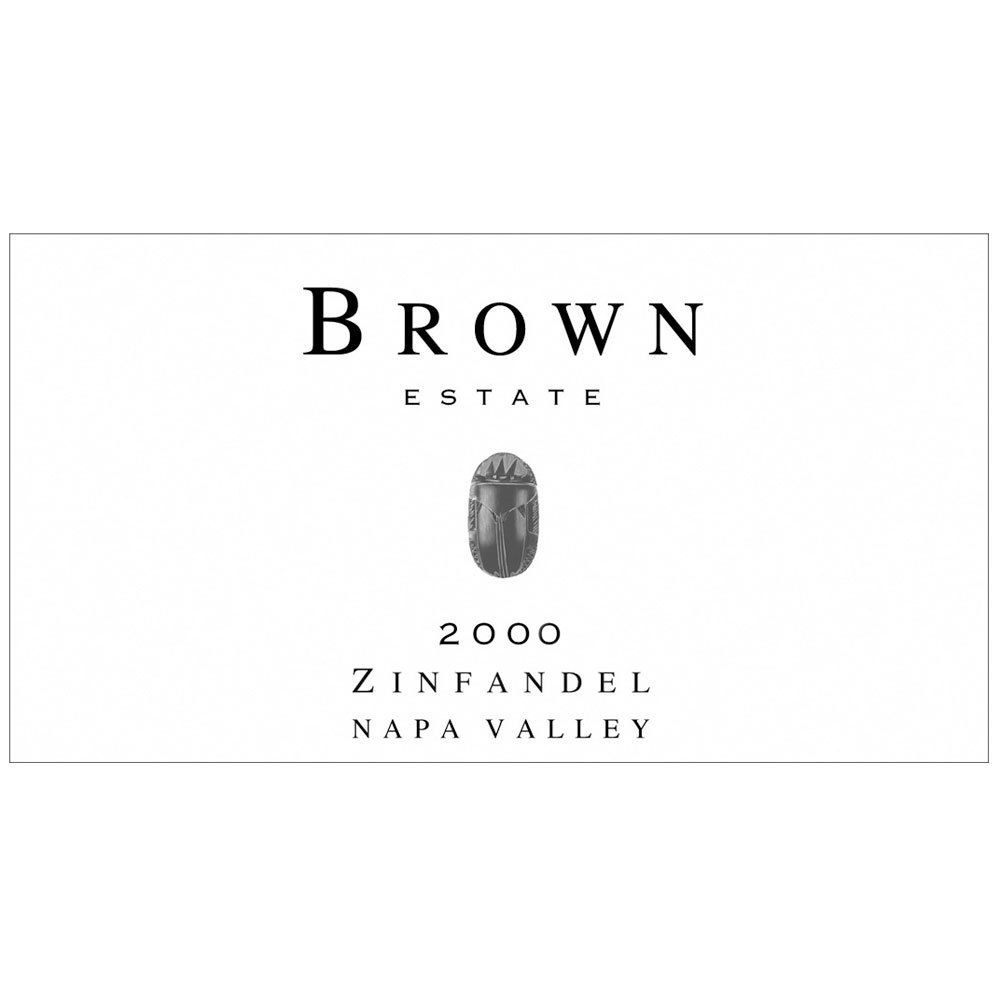 Brown Estate Zinfandel 2000 Front Label