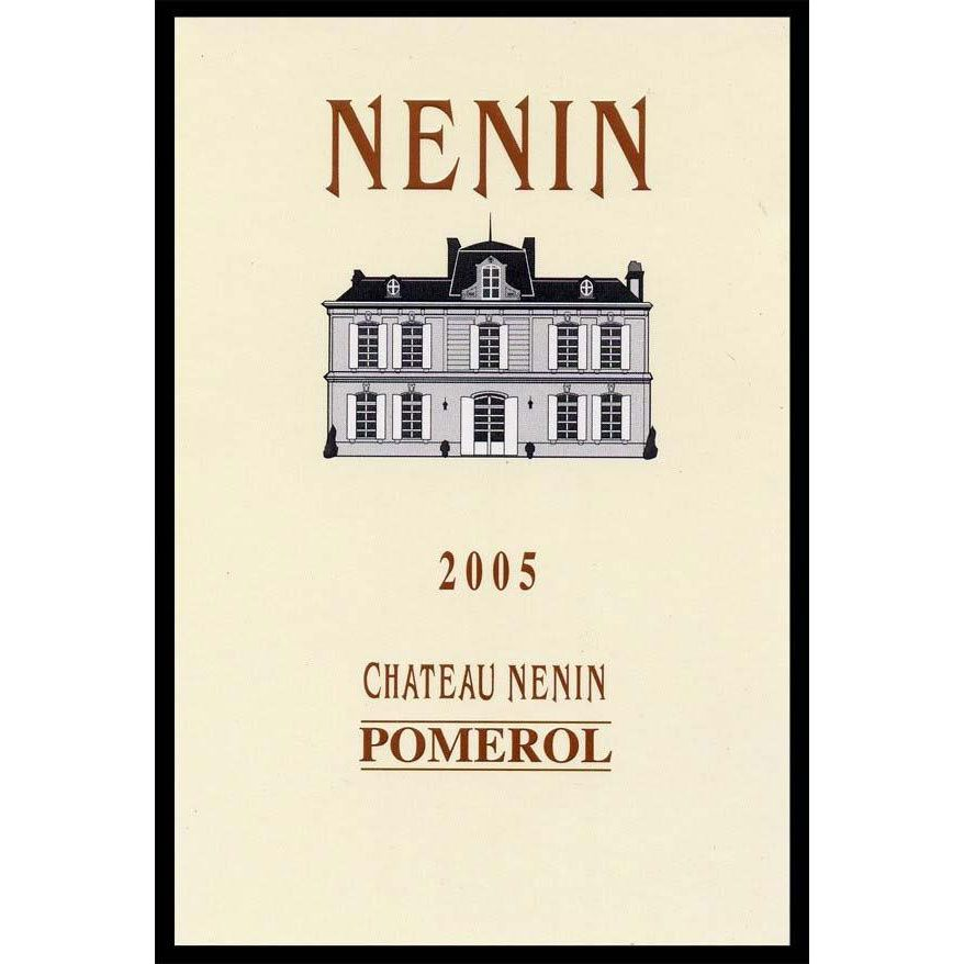 Chateau Nenin (375ML half-bottle) 2005 Front Label