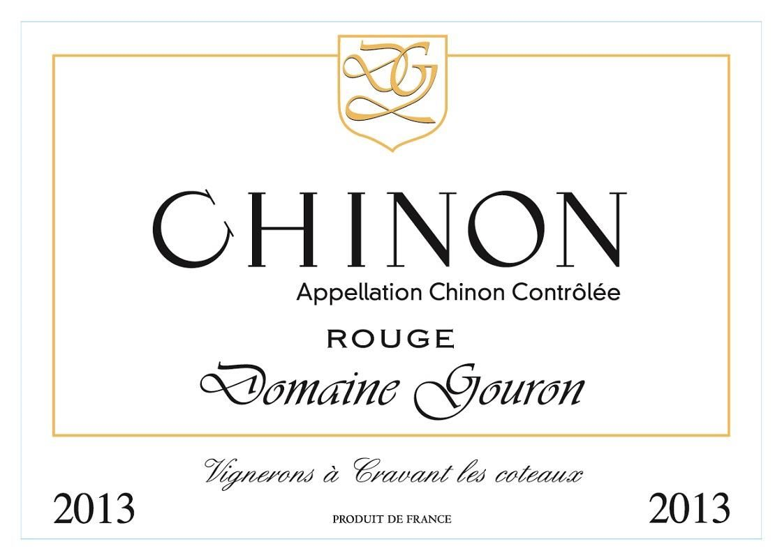 Domaine Gouron Chinon Rouge 2013 Front Label