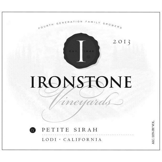 Ironstone Petite Sirah 2013 Front Label