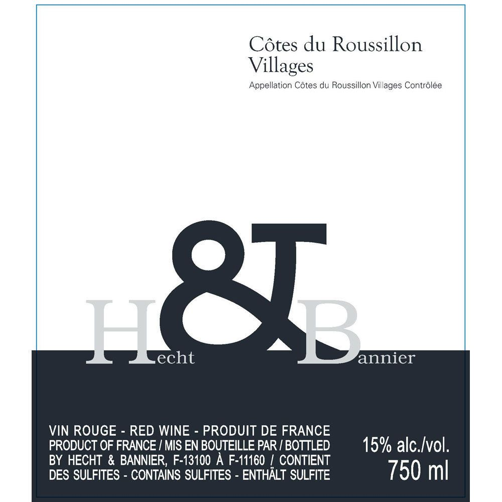 Hecht & Bannier Cotes du Roussillon Villages 2013 Front Label