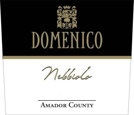 Domenico Wines Nebbiolo 2006 Front Label