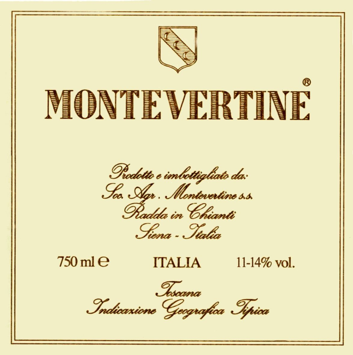 Montevertine Toscana Rosso 2012 Front Label