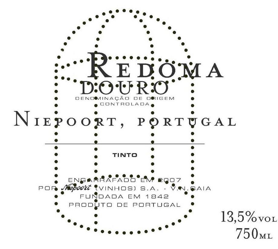 Niepoort Redoma Tinto 2010 Front Label