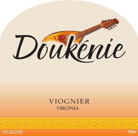 Doukenie Winery Viognier 2012 Front Label