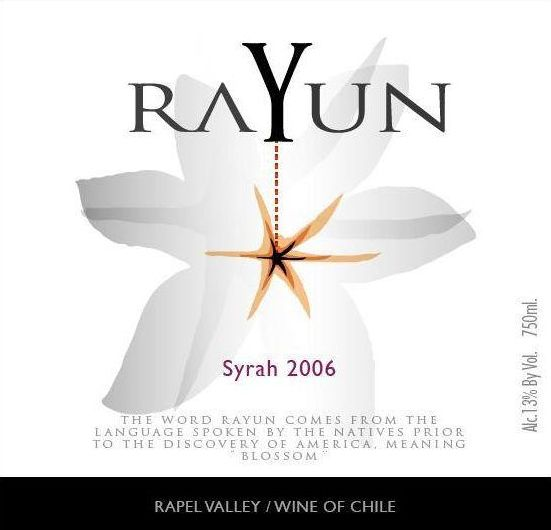 Sutil Family Wines Rayun Syrah 2006 Front Label