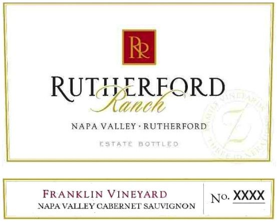Rutherford Ranch Franklin Vineyard Cabernet Sauvignon 2009 Front Label