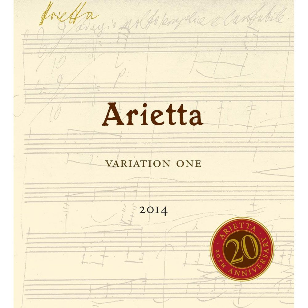 Arietta Variation One 2014 Front Label