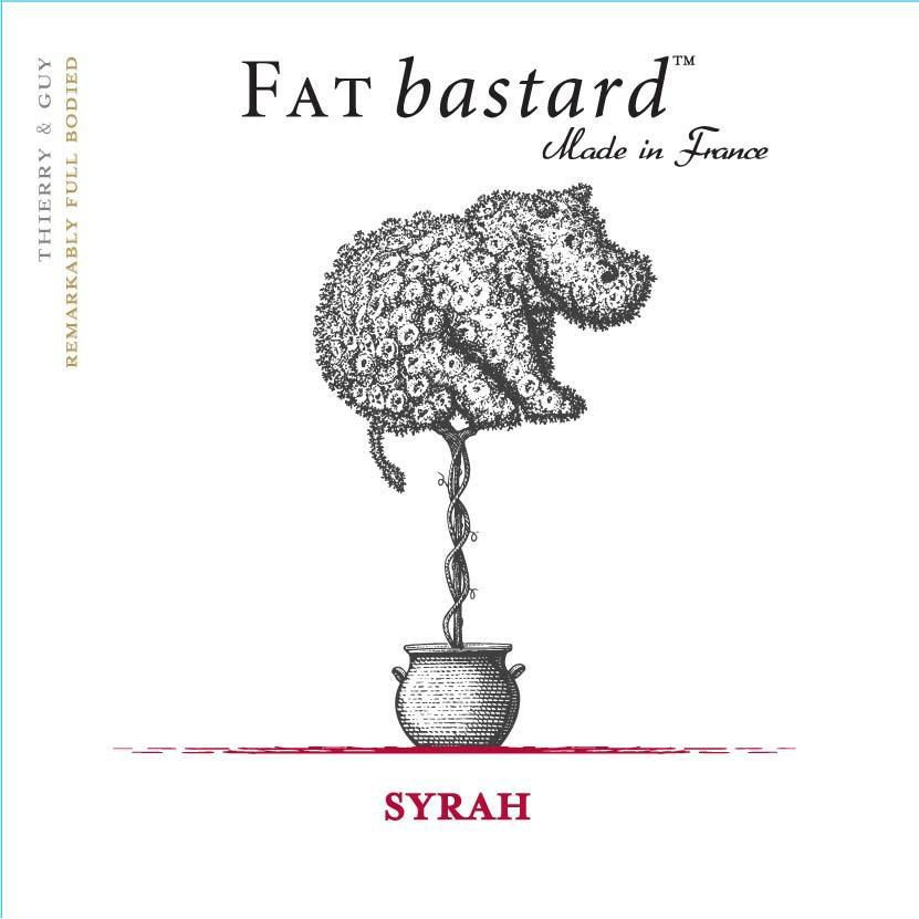 Fat Bastard Syrah 2016 Front Label