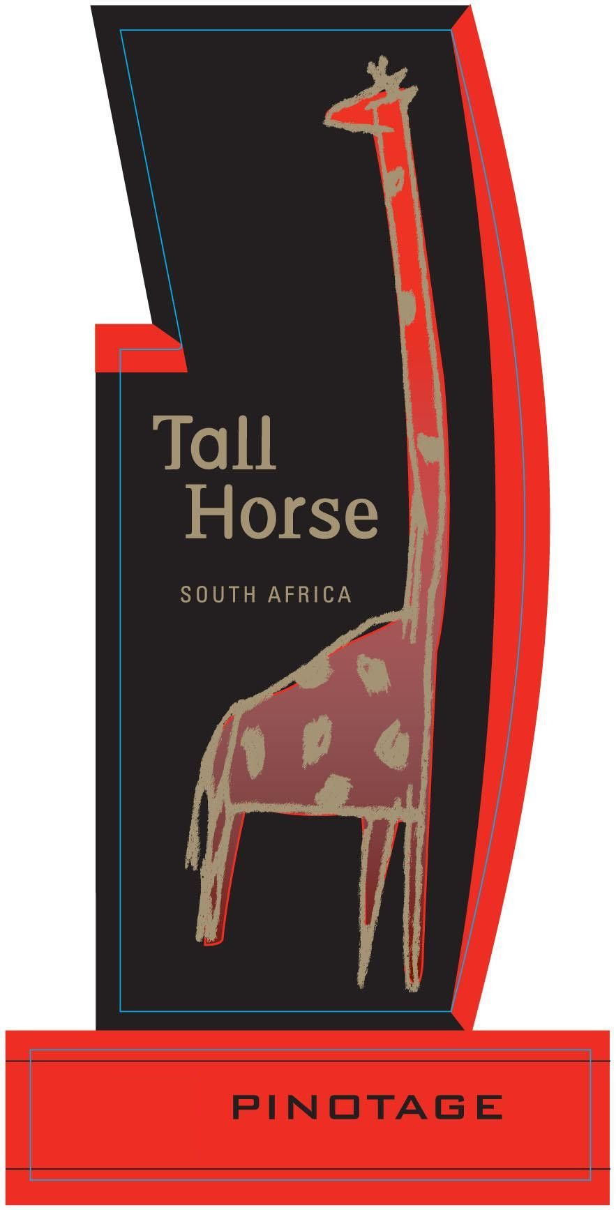 Tall Horse Pinotage 2008 Front Label