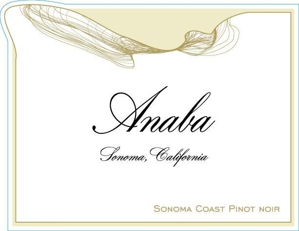 Anaba Sonoma Coast Pinot Noir 2011 Front Label