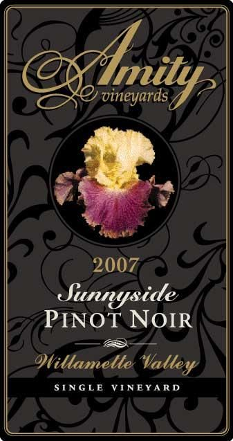 Amity Sunnyside Pinot Noir 2007 Front Label