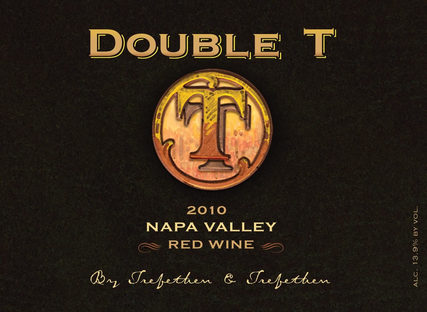 Trefethen Double T Red 2010 Front Label