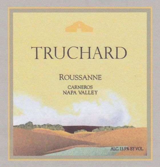 Truchard Estate Roussanne 2015 Front Label