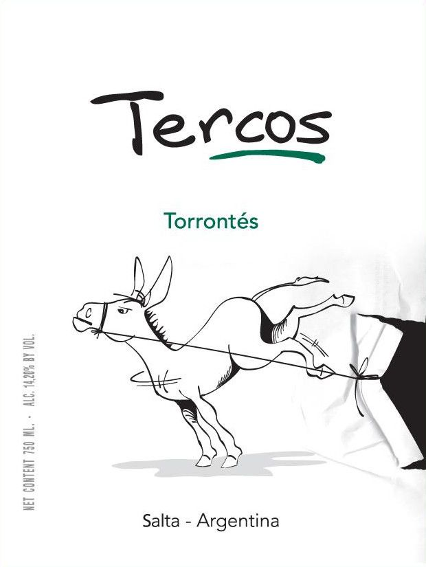 Tercos Torrontes 2012 Front Label