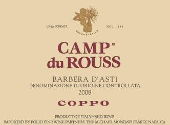 Coppo Barbera d'Asti Camp du Rouss 2008 Front Label