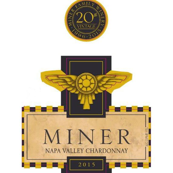 Miner Family Napa Valley Chardonnay 2015 Front Label