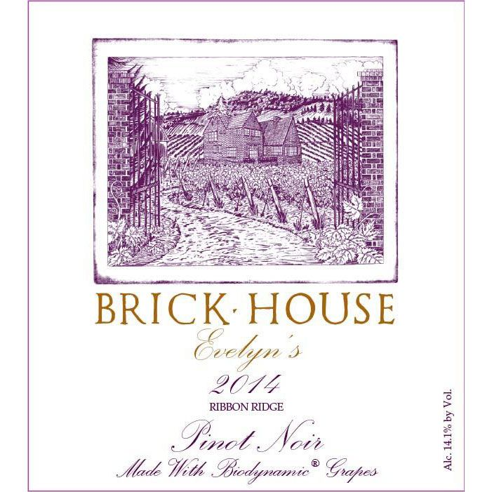 Brick House Evelyn's Pinot Noir (1.5 Liter Magnum) 2014 Front Label