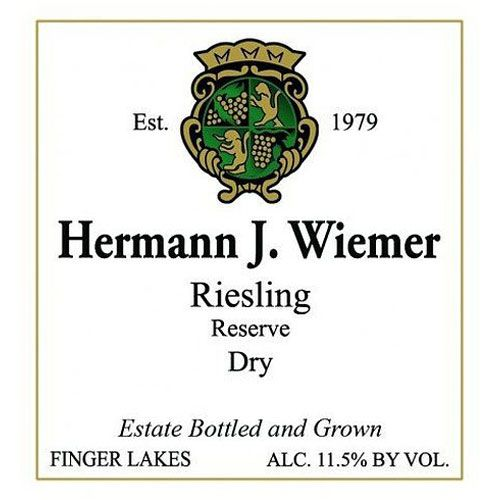 Hermann J. Wiemer Dry Riesling Reserve 2016 Front Label