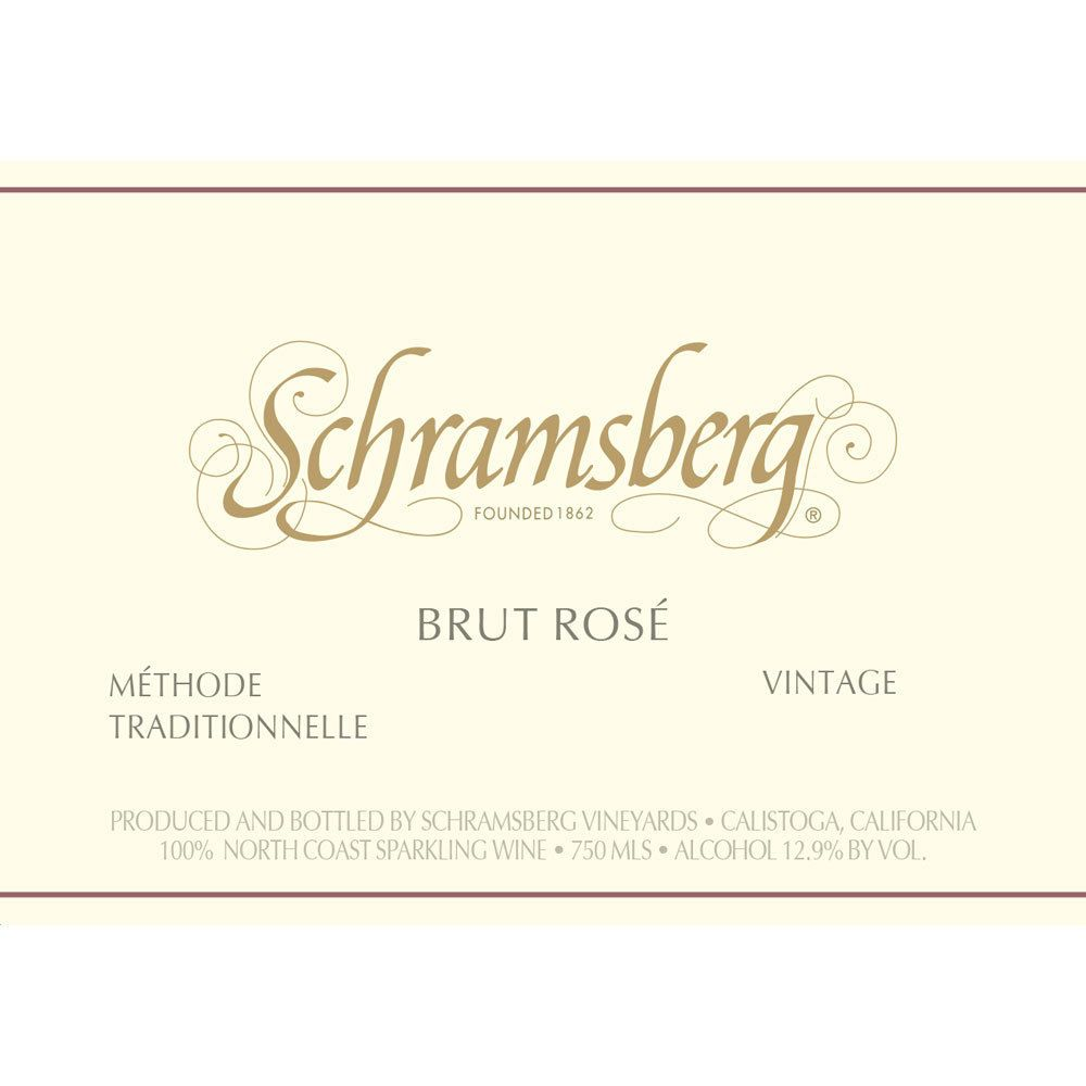 Schramsberg Brut Rose 2015 Front Label