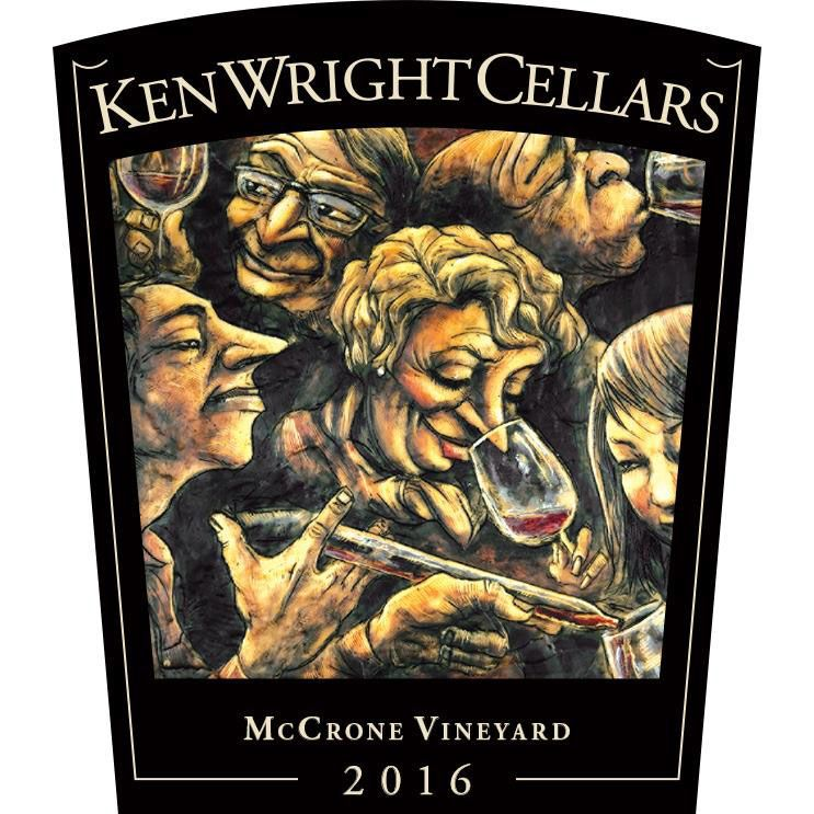 Ken Wright Cellars McCrone Vineyard Pinot Noir 2016 Front Label