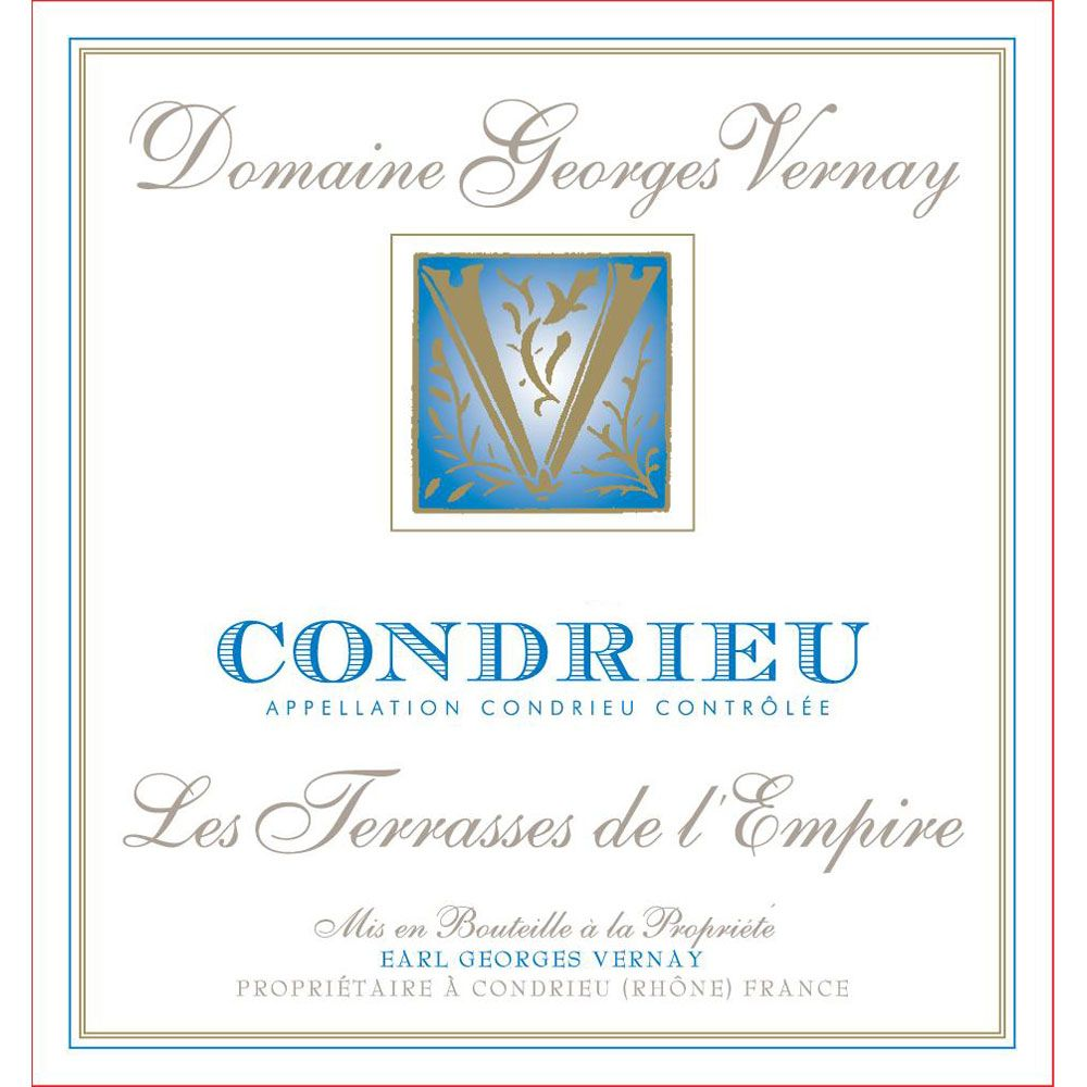 Georges Vernay Condrieu Terrasses de l'Empire 2016 Front Label