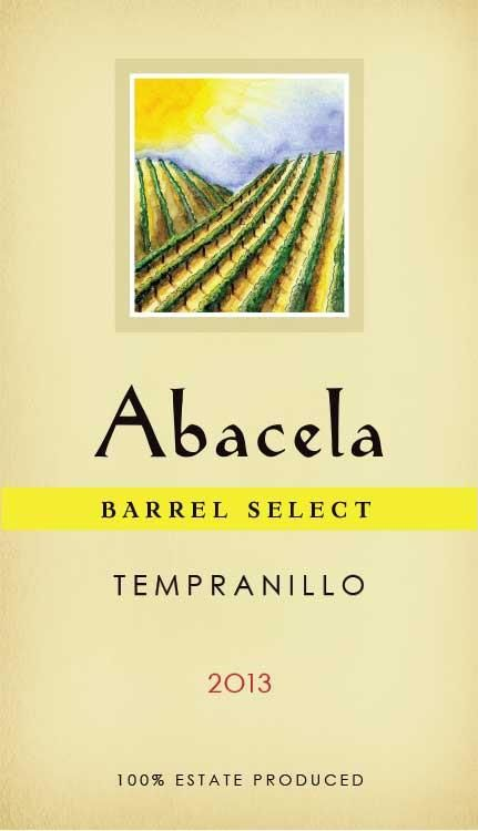 Abacela Barrel Select Estate Tempranillo 2013 Front Label
