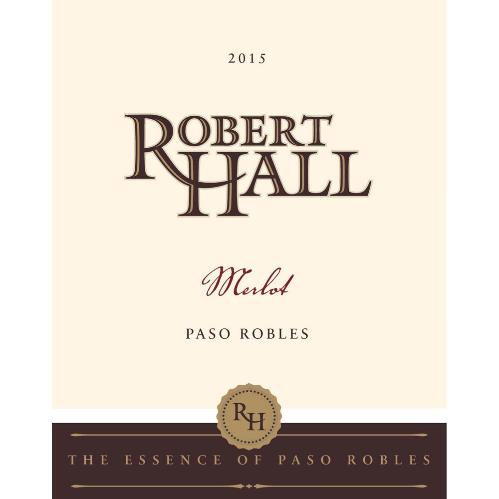 Robert Hall Merlot 2015 Front Label
