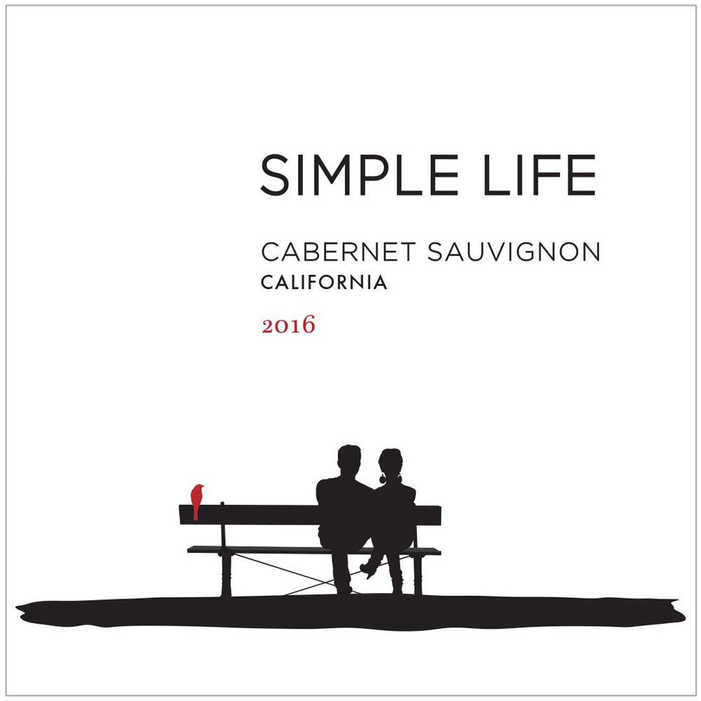Simple Life Cabernet Sauvignon 2016 Front Label
