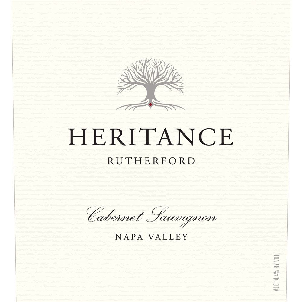 Heritance Rutherford Cabernet Sauvignon 2014 Front Label