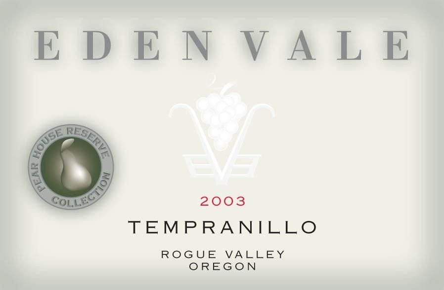 EdenVale Winery Pear House Reserve Tempranillo 2003 Front Label