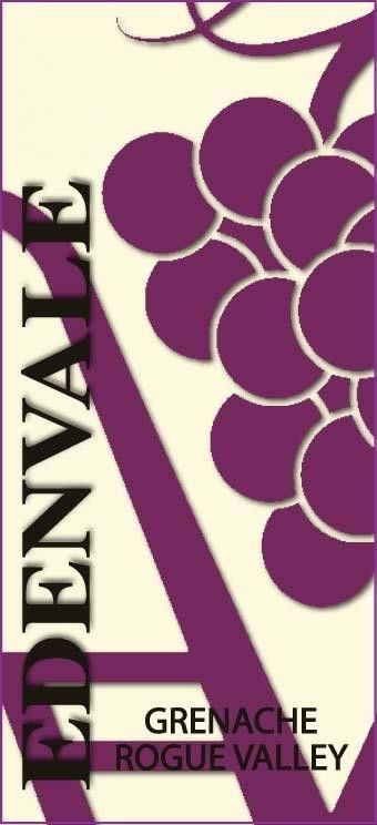 EdenVale Winery Grenache 2007 Front Label