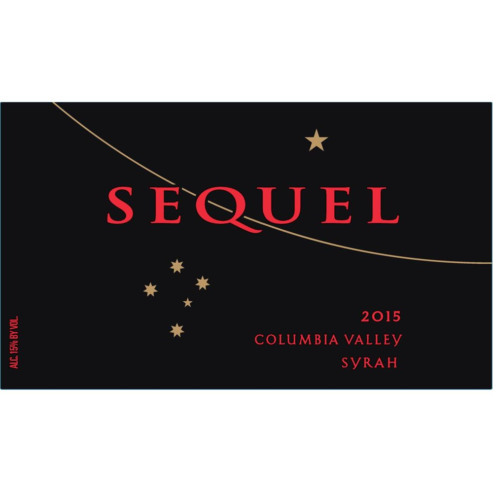 Sequel Syrah 2015 Front Label