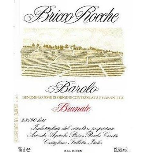 Ceretto Barolo Brunate 2001 Front Label
