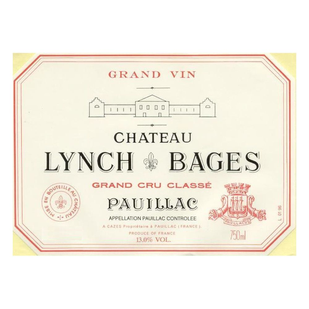 Chateau Lynch-Bages  1998 Front Label