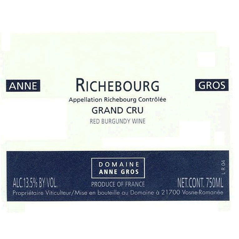 Domaine Anne Gros Richebourg Grand Cru 1999 Front Label