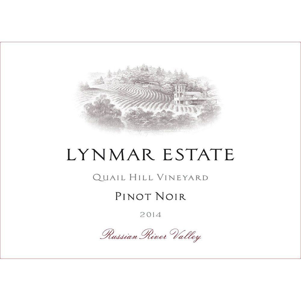 Lynmar Winery Quail Hill Cuvee Pinot Noir 2014 Front Label