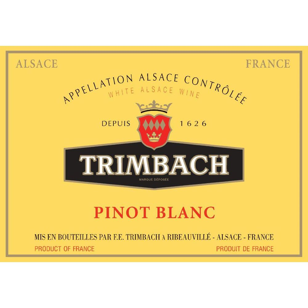 Trimbach Pinot Blanc 2016 Front Label